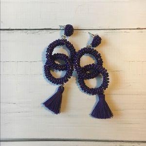 Jewelry - Aura's Beaded Purple Tassel Earrings - Brand New!
